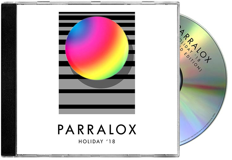 CD jewel case - Parralox - Holiday 18